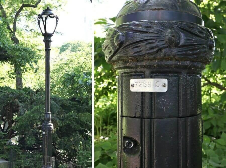 Central Park lampposts