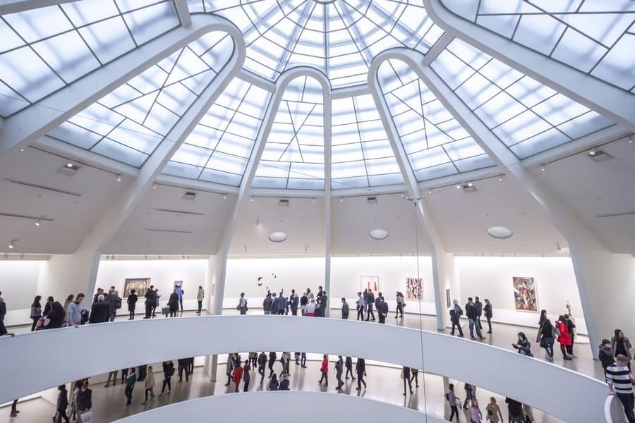Interior of the Guggenheim Museum