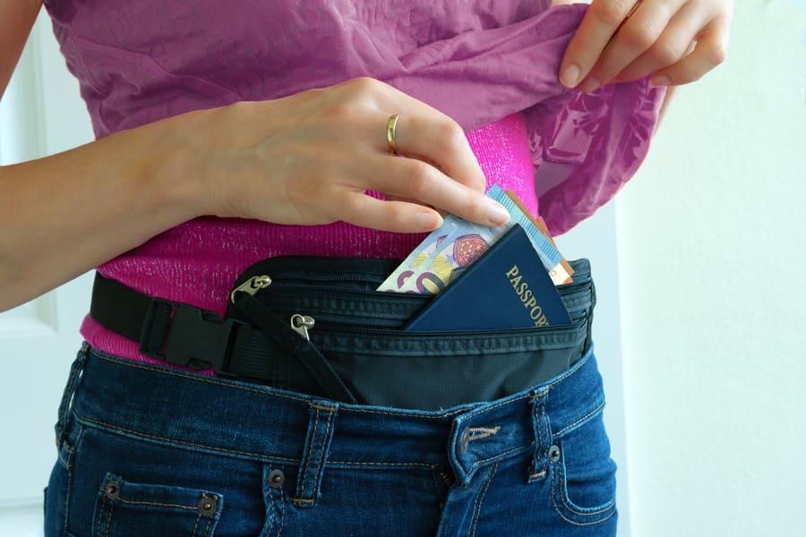 hidden travel money belt