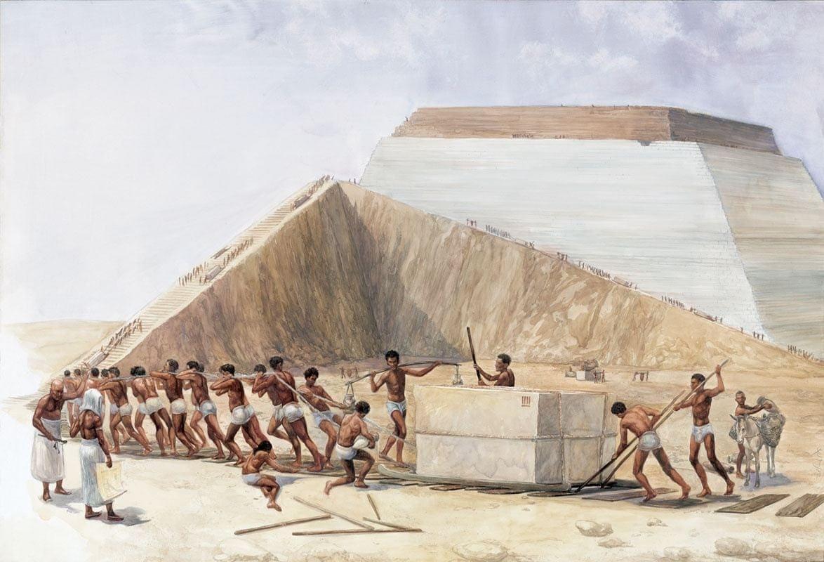 Pharaohs' slaves painting