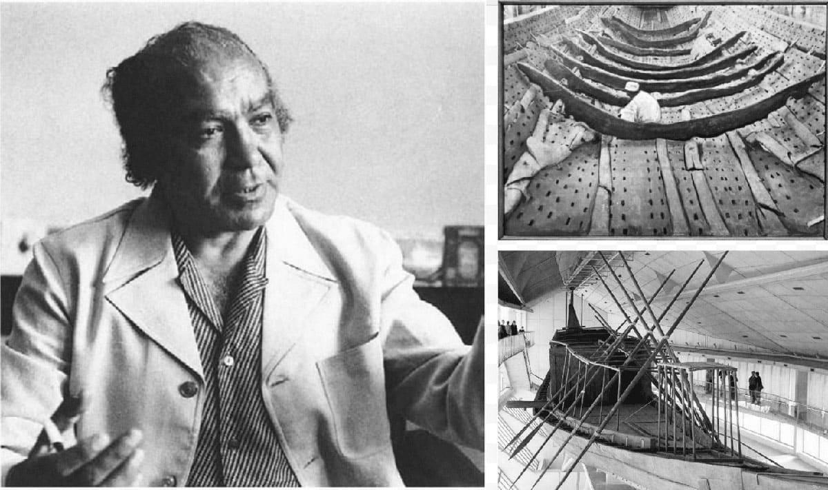 Khufu ship and archeologist Kamal el-Mallakh