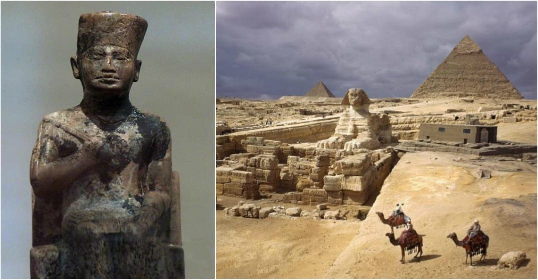 The Pyramids and Pharao sculpture