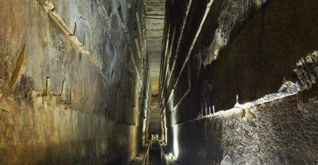 inside the great pyramid of Giza