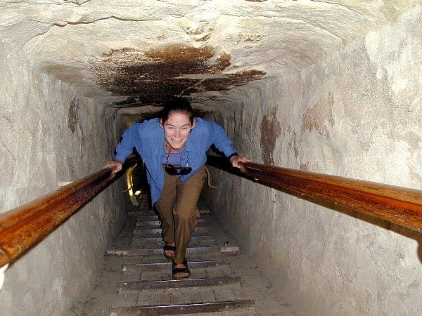 woman inside the pyramid