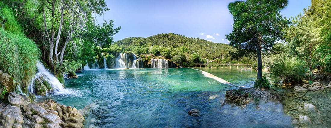 Beautiful Lake and forestation