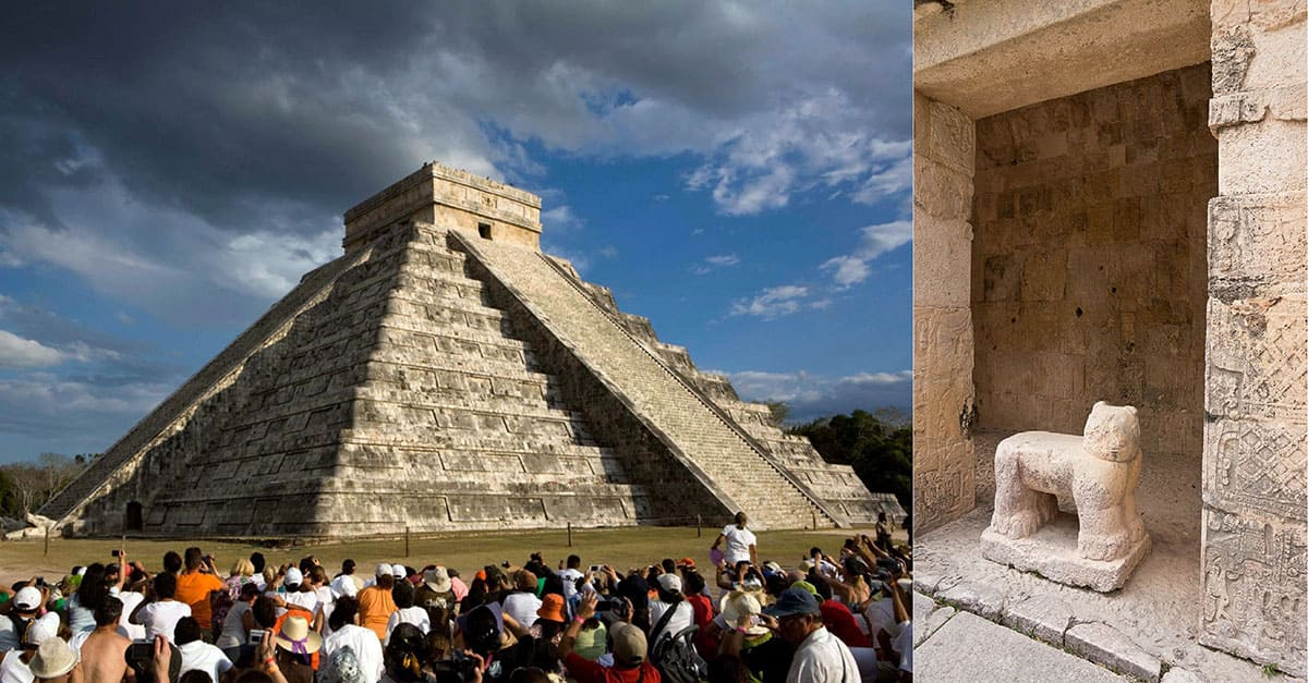 A picture of the pyramid and throne
