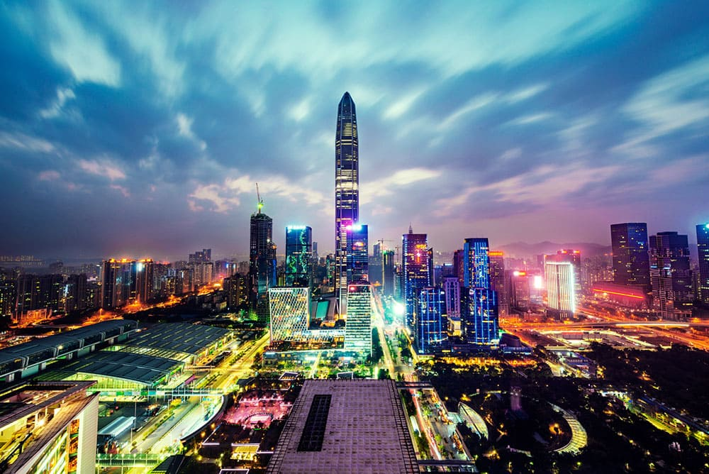 cityscape in the Shenzhen, china
