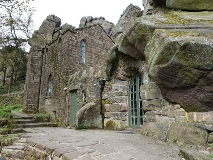 The Don Whillans memorial hut on the Roaches. The peak district national park.