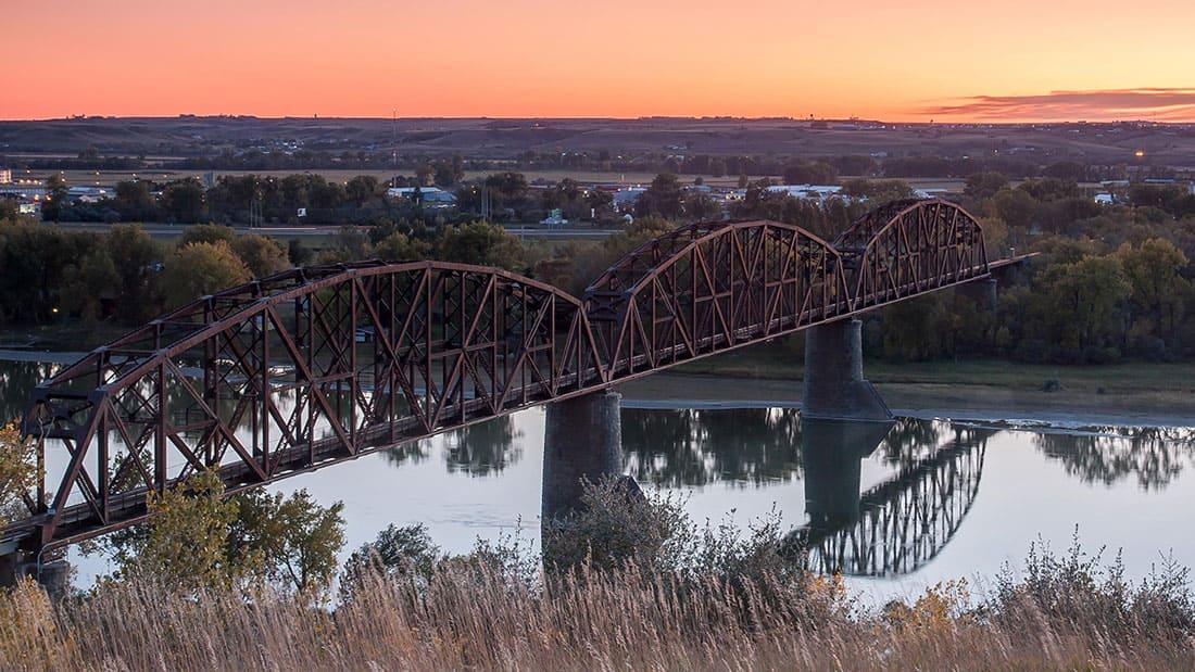the Bismarck-Mandan Rail Bridge