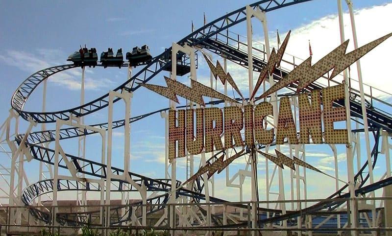 The Hurricane roller coaster