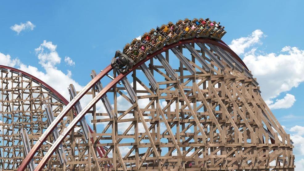 Huge roller coaster in Ohio