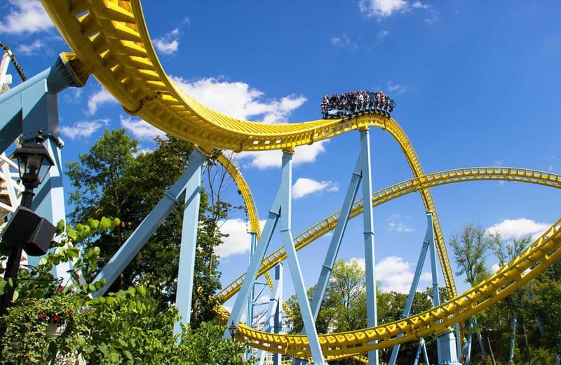 Sky Rush roller-coaster