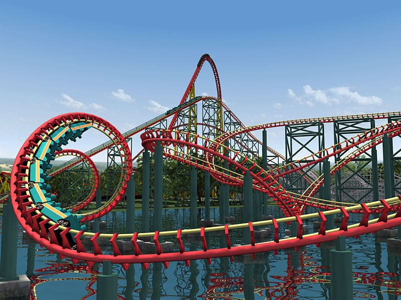 Intimidator 305 roller-coaster ride