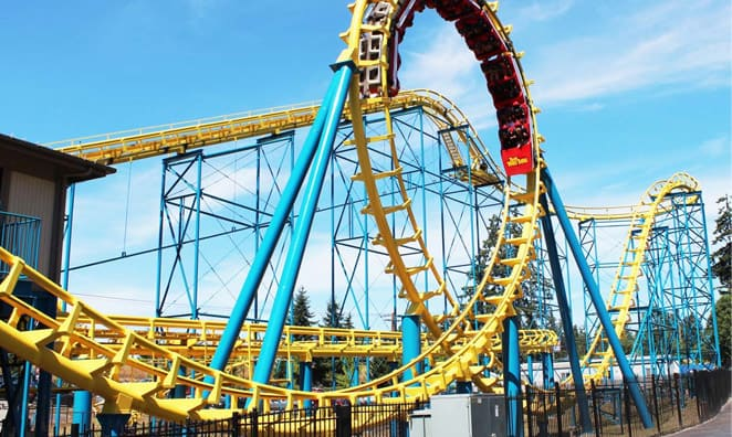 The Wild Thing roller-coaster in Wild Waves