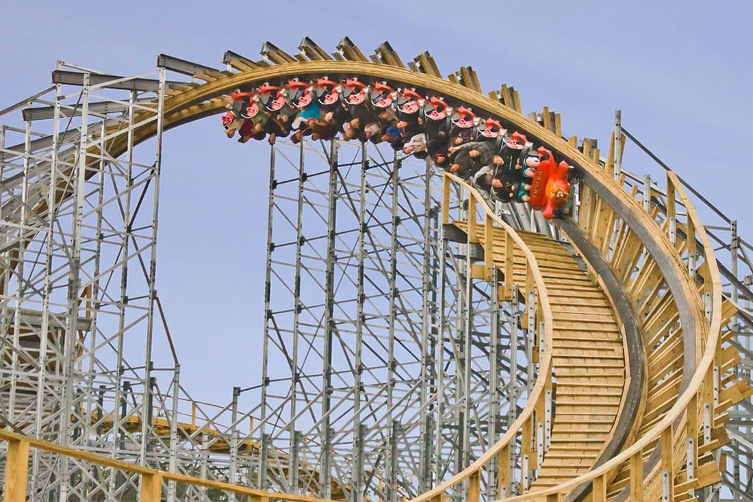 Hades 360 upside down roller-coaster