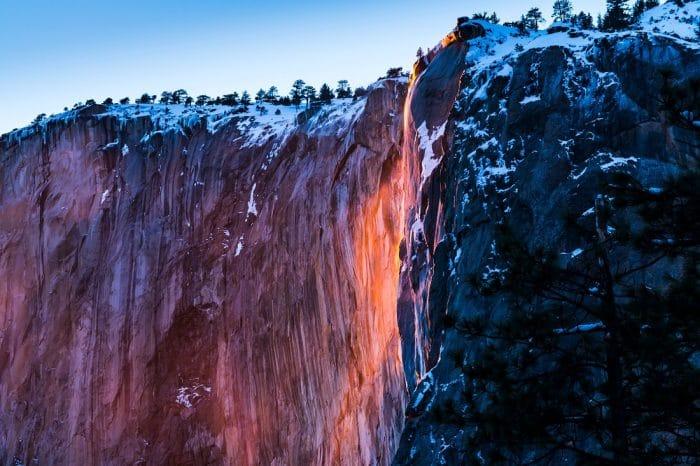 Fire-fall( Horse trail fall ) when sunset ,Yosemite National Park,California,USA