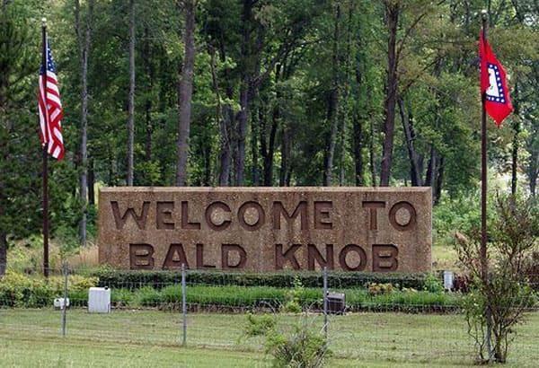 Bald Knob Arkansas town sign