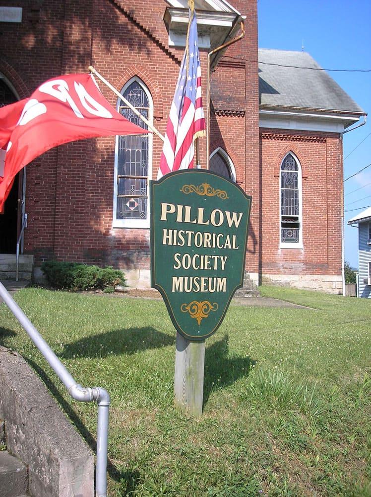 Pillow, Pennsylvania town sign