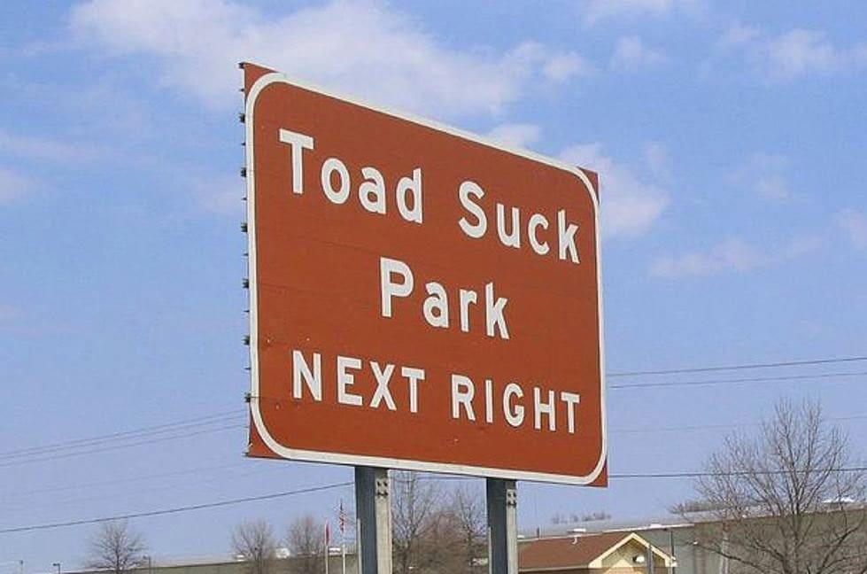 Toad Suck, Arkansas town sign