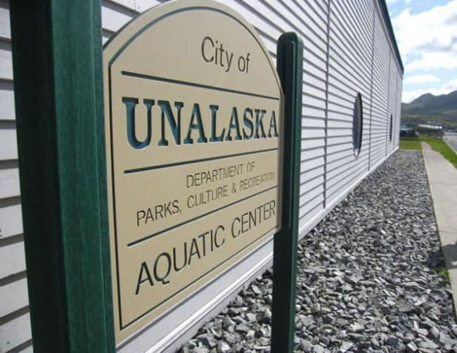 Unalaska town sign