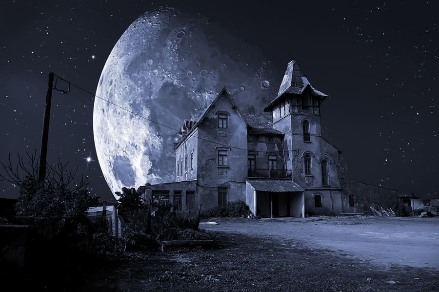 Abandoned haunted house for Halloween holiday