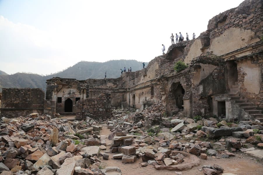 Ruins of the haunted city of Bhangarh Rajasthan India