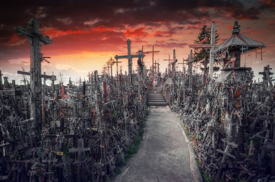 The Hill of Crosses, a famous site of pilgrimage in northern Lithuania.