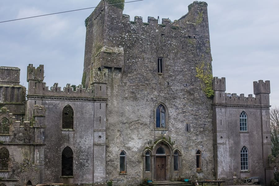 Leap Castle front, Co Offaly, Ireland