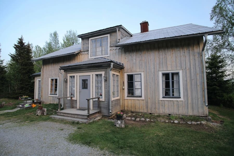 Spoekpraestgaard, a haunted clergy house, in Borgvattnet in Sweden.
