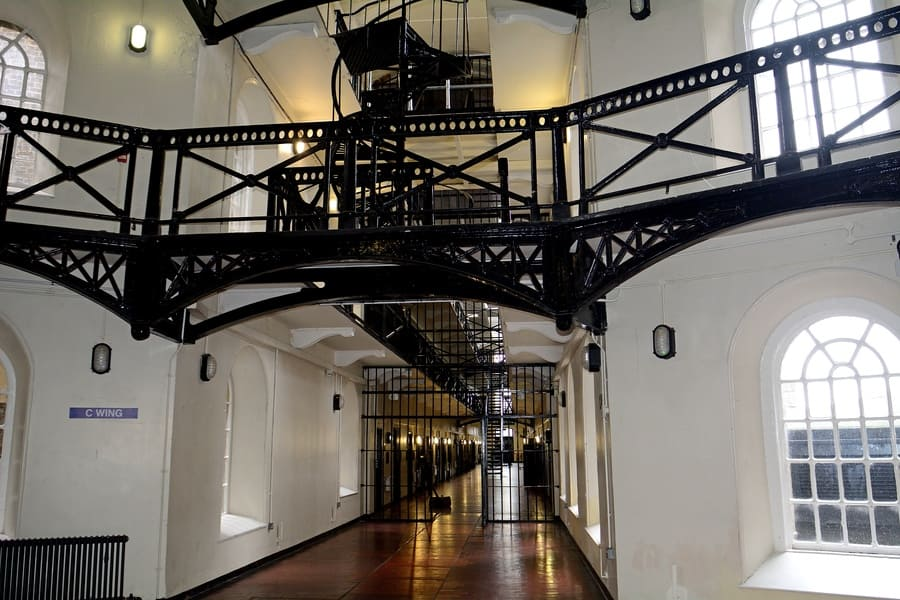 The Crumlin Road Gaol 23 April 2017 at Belfast. The Crum was one of the most secure prisons in Belfast until 1996 when it was closed