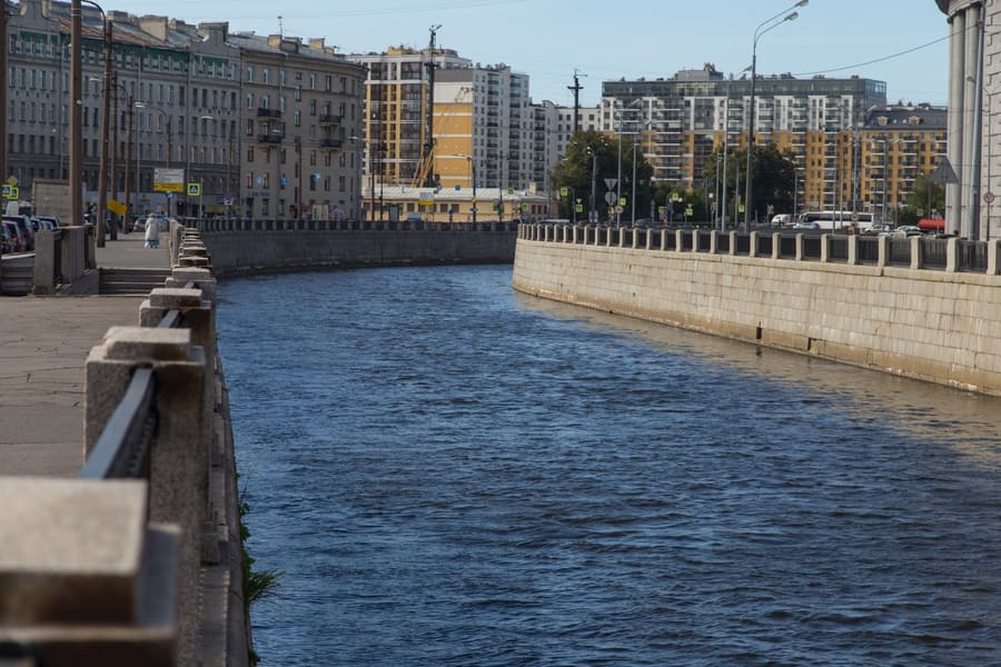 St. Petersburg, Russia, on August 28, 2019. Embankment of the Obvodny Canal.