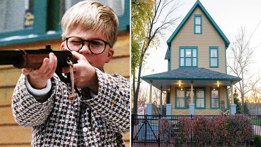 Peter Billingsley in 'A Christmas Story.' / The Parkers House in Ohio.