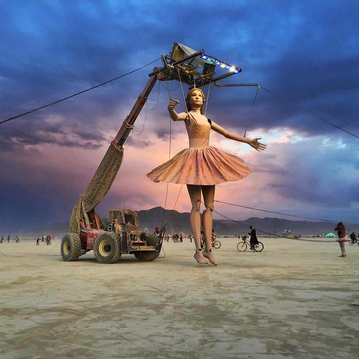 Ballerina Statue at Burning Man