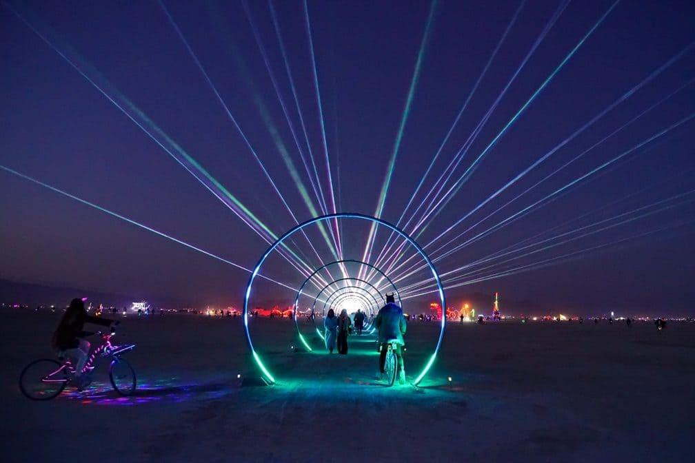 Burning Man festival view