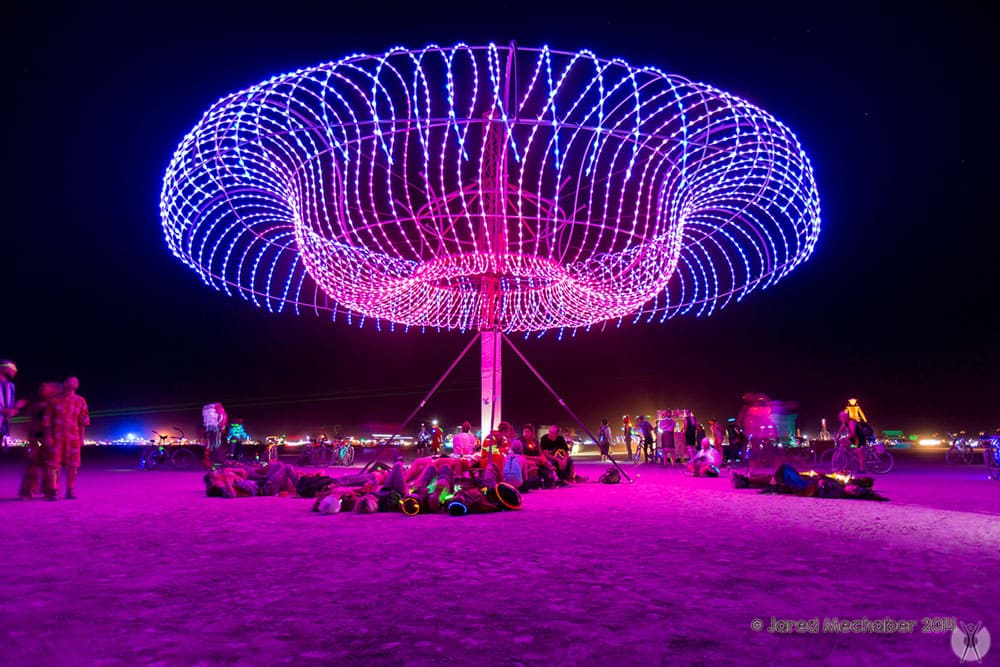 Lights at Burning Man
