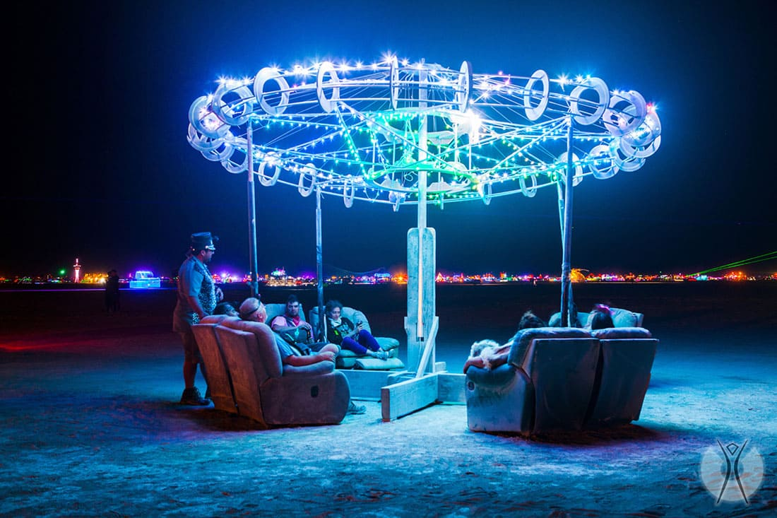 Couches at Burning Man