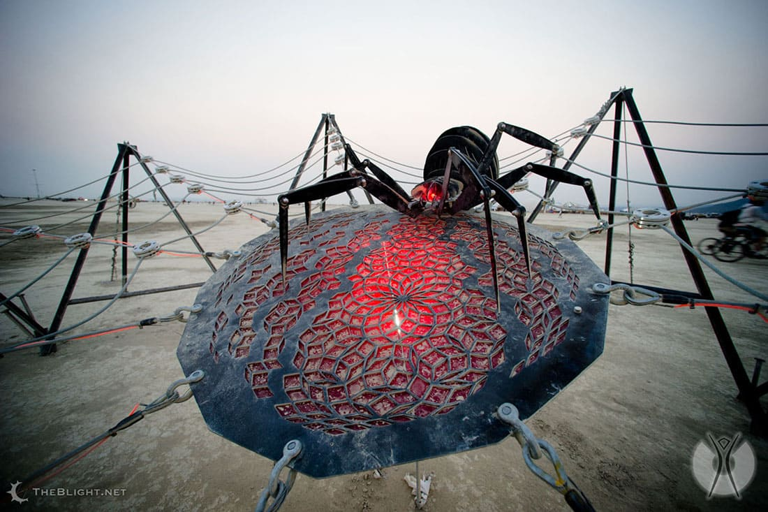 Spider sculpture at Burning Man