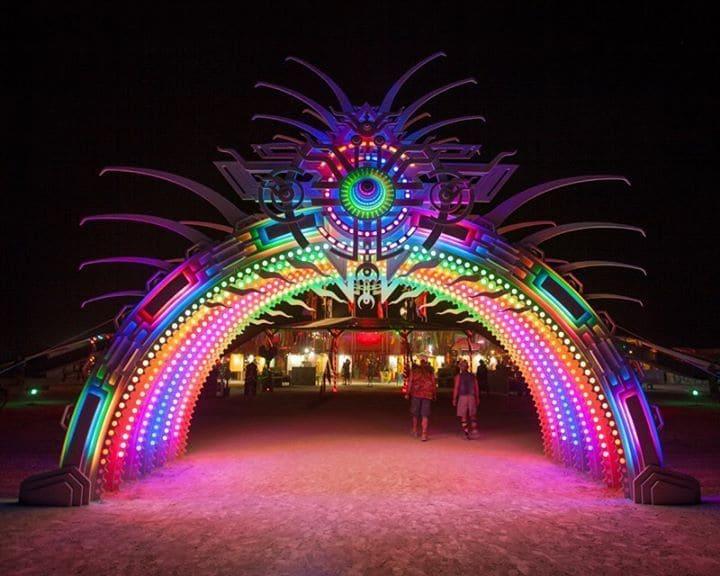 Light up arch at Burning Man