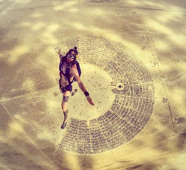 Skyview of the Burning Man festival