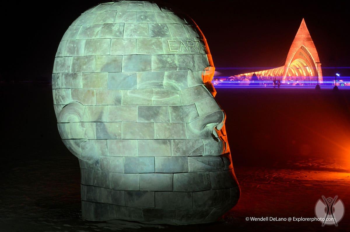 Sculpture of a human head