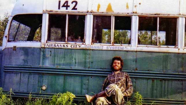 Chris McCandless in front of his bus