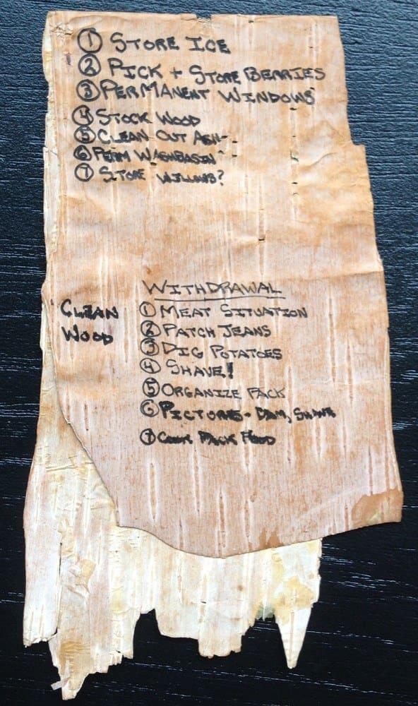 A list of tasks Chris undertook before leaving the bus
