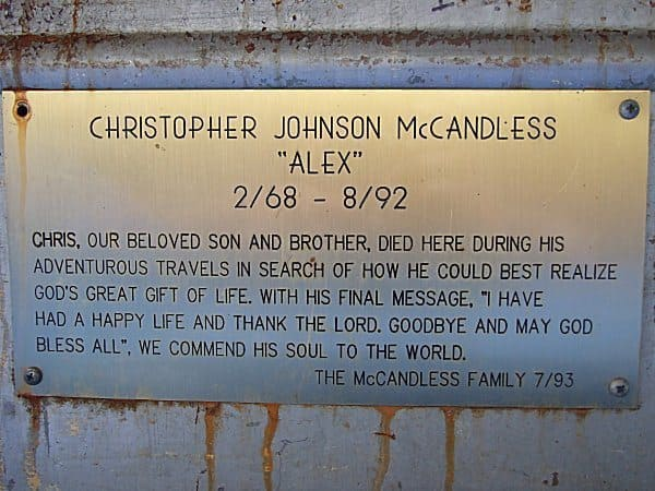 A Plaque, dedicated to Chris, placed by his family