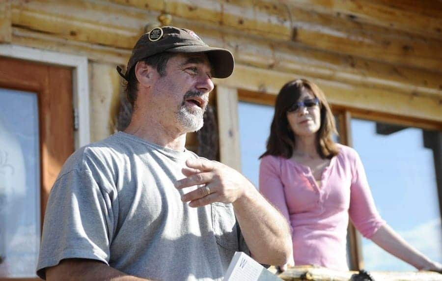 Jon and Karin Nierenberg at their lodge on the Stampede Road in Healy, Alaska, June 20, 2008
