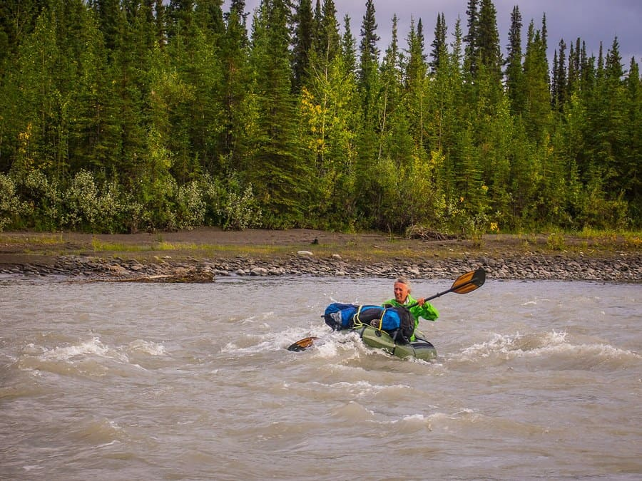 Crossing the Teklanika River