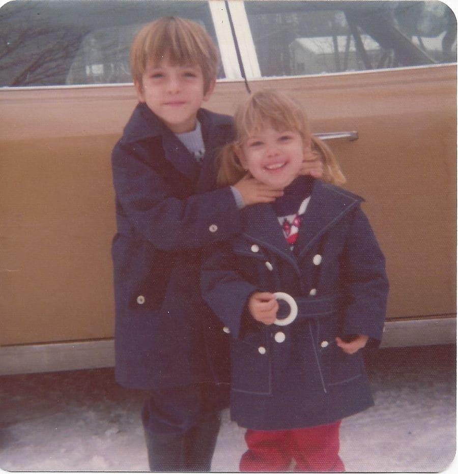 Carine and Chris McCandless as kids