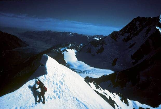 Lincoln Hall on the summit of Mt Haidinger, New Zealand