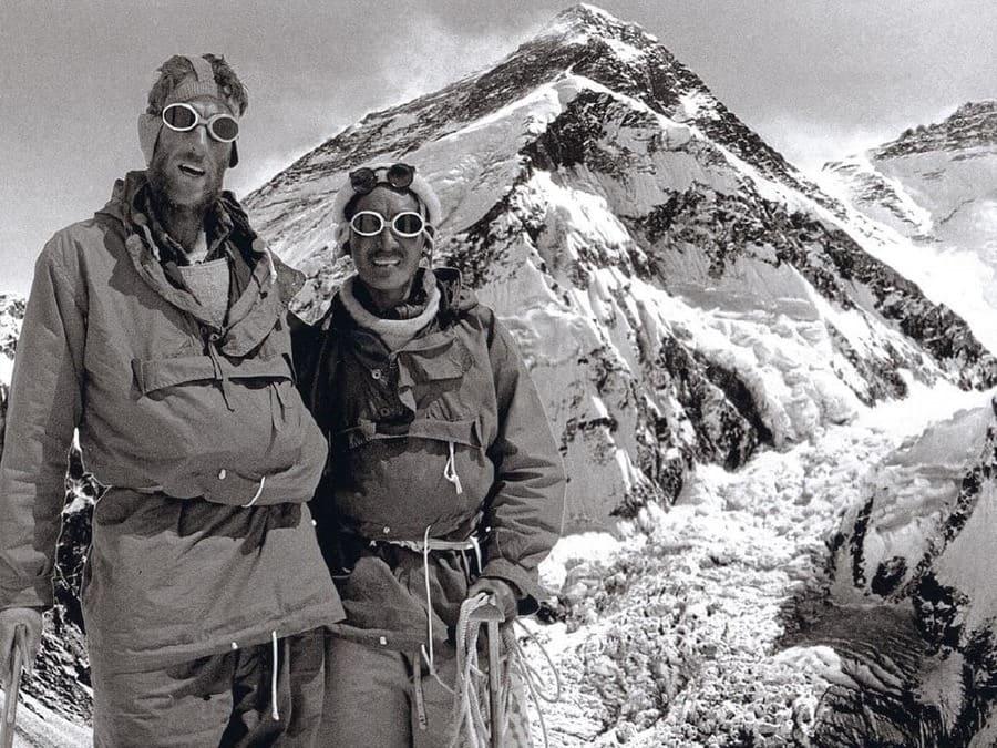 Sir Edmund Hillary (left) and Tenzing Norgay, Mount Everest
