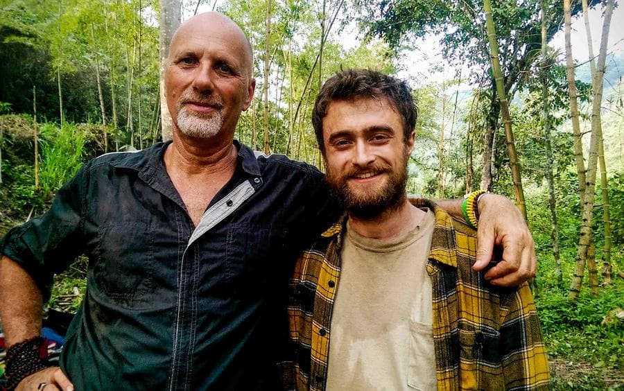 Yossi Ghinsberg with actor Daniel Radcliffe