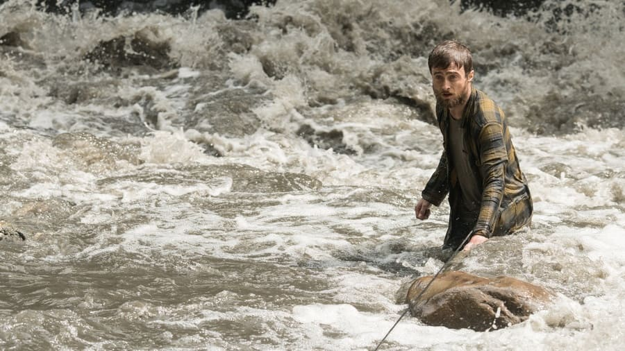 Jungle publicity still, Yossi coming out of the river